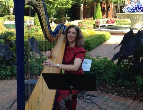 Atlanta Botanical Gardens  – Atlanta Harpist Lisa Handman performs