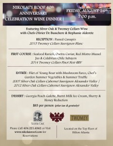 Nikolai's Roof Wine Dinner Menu