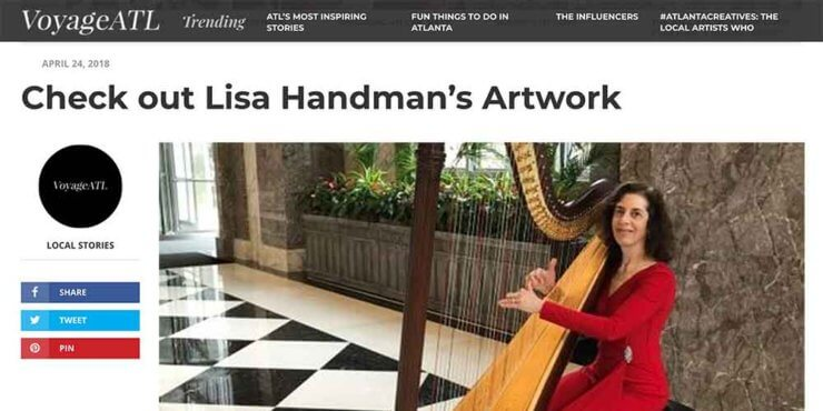 Atlanta Harpist Featured On VoyageATL