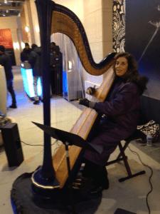 Lisa Handman of Harpnotes performs at Buckhead Atlanta