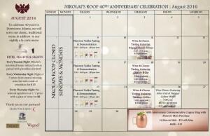 Nikolai's Roof August calendar